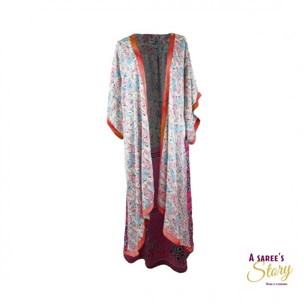 Hvid / lyseblå / lyserød / orange Doyenne Kimono OneSize